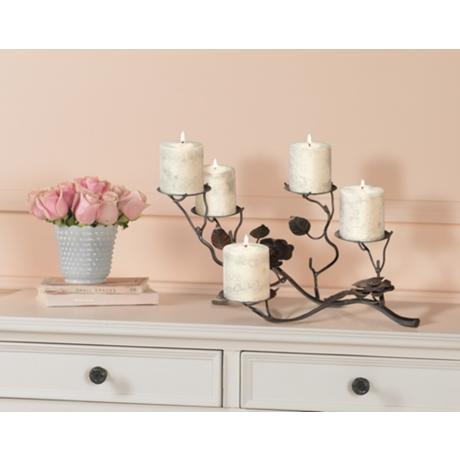 Decorating with Floral Candle Holder