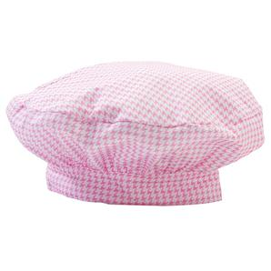 Junior Chef Pink Houndstooth Hat