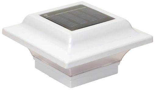 Solar-powered Fence Post Cap - Imperial White