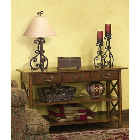 Table lamp in scene