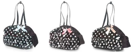 Puppy Angel Bowling Pola Dot Carrier - the ultimate high fashion for dogs