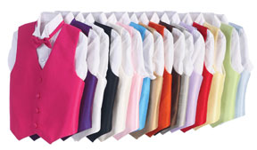Vest and Bow Tie Color Choices