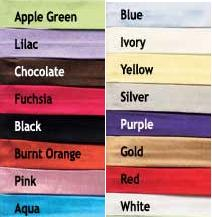 Color Chart for Sash Color Change