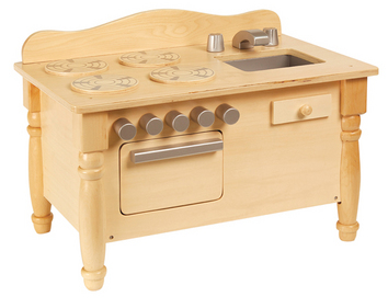 Play Kitchen for Dolls in Natural Finish
